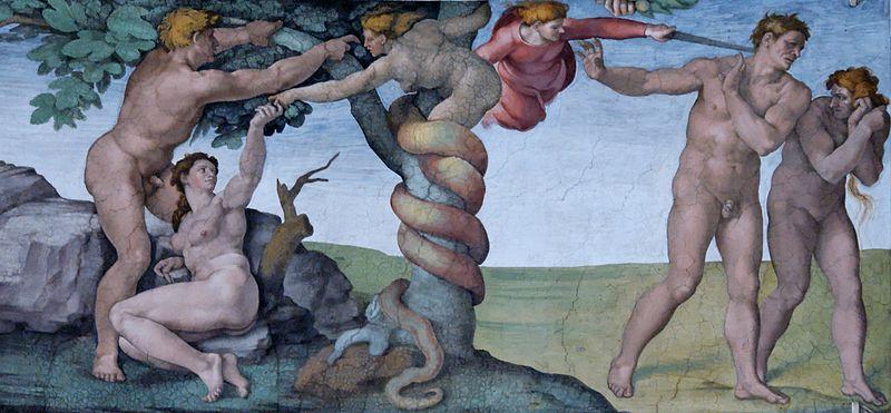 Adam and Eve, Sistine Chapel